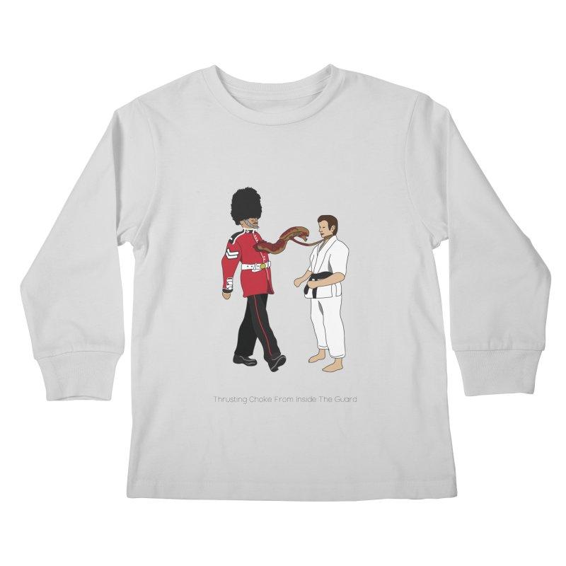Thrusting Choke From Inside the Guard Kids Longsleeve T-Shirt by Chris Talbot-Heindls' Artist Shop