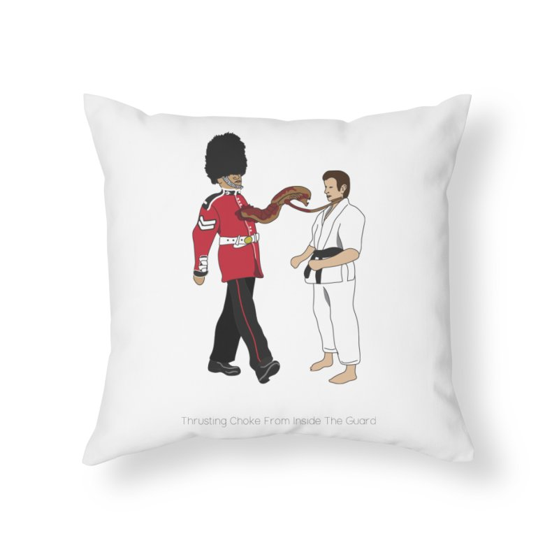 Thrusting Choke From Inside the Guard Home Throw Pillow by Chris Talbot-Heindls' Artist Shop