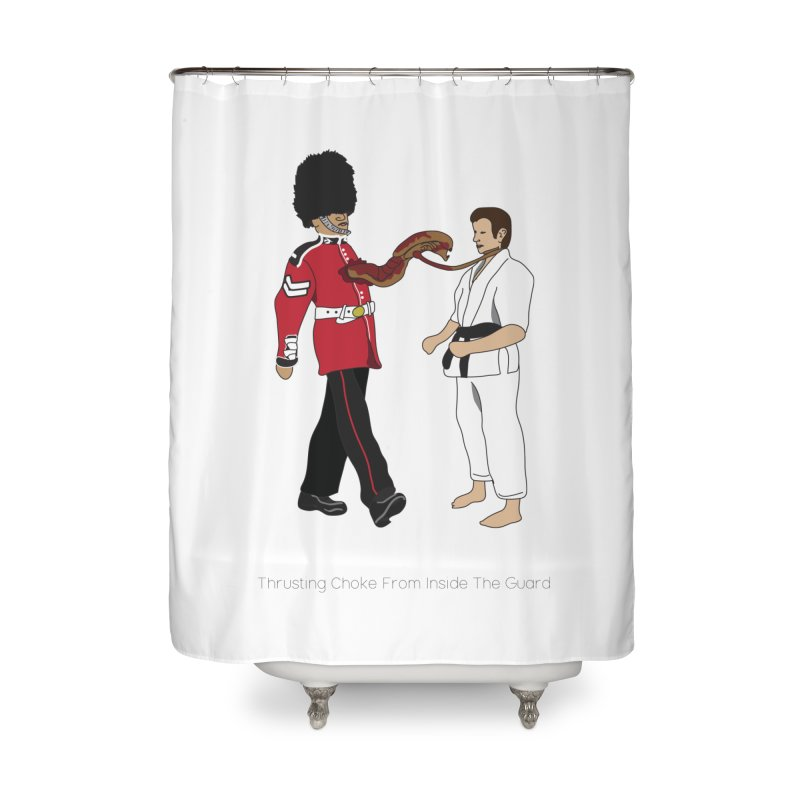 Thrusting Choke From Inside the Guard Home Shower Curtain by Chris Talbot-Heindls' Artist Shop