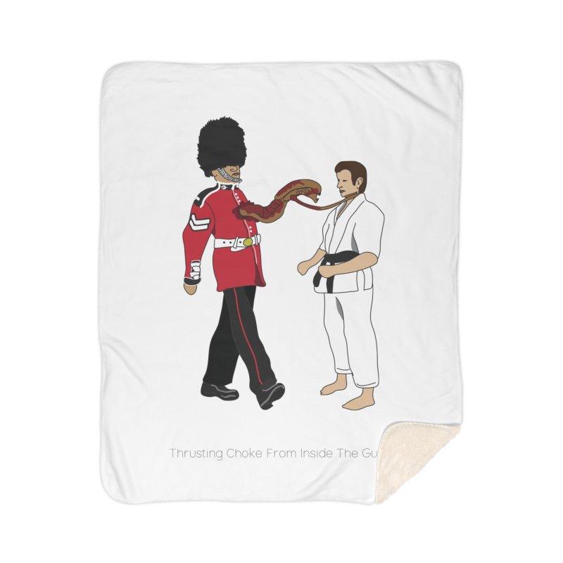 Thrusting Choke From Inside the Guard Home Sherpa Blanket Blanket by Chris Talbot-Heindls' Artist Shop