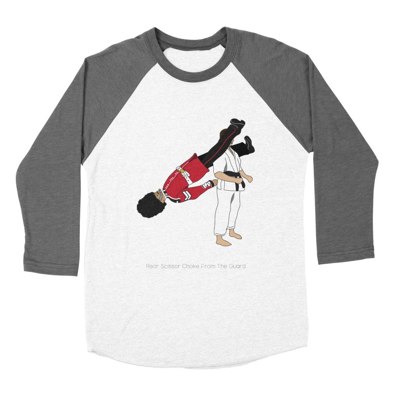 Rear Scissor Choke From the Guard Women's Baseball Triblend Longsleeve T-Shirt by Chris Talbot-Heindls' Artist Shop