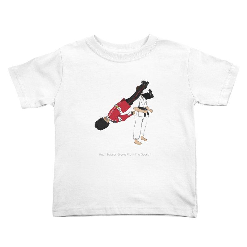 Rear Scissor Choke From the Guard Kids Toddler T-Shirt by Chris Talbot-Heindls' Artist Shop