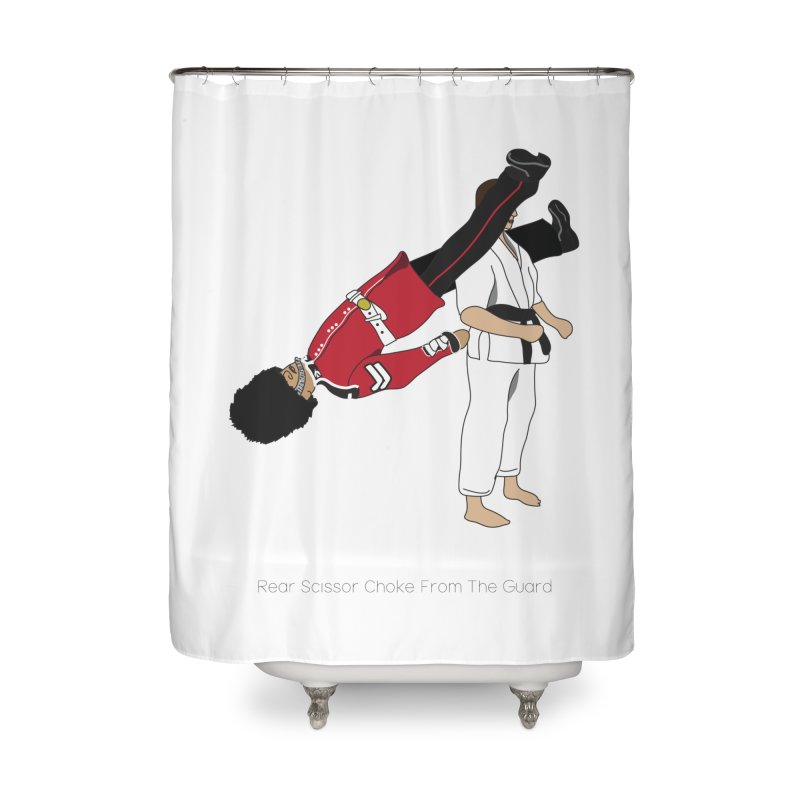 Rear Scissor Choke From the Guard Home Shower Curtain by Chris Talbot-Heindls' Artist Shop