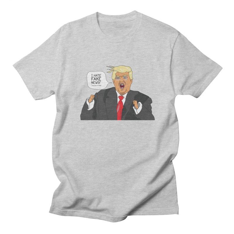 Fake News Tantrum Women's Regular Unisex T-Shirt by Chris Talbot-Heindls' Artist Shop