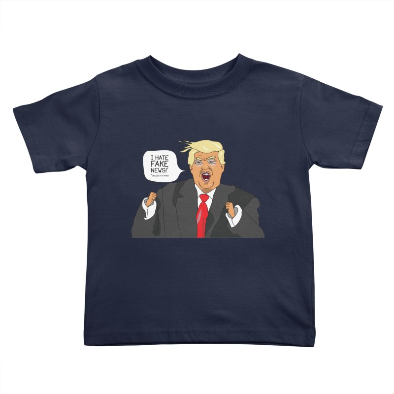 Fake News Tantrum Kids Toddler T-Shirt by Chris Talbot-Heindls' Artist Shop