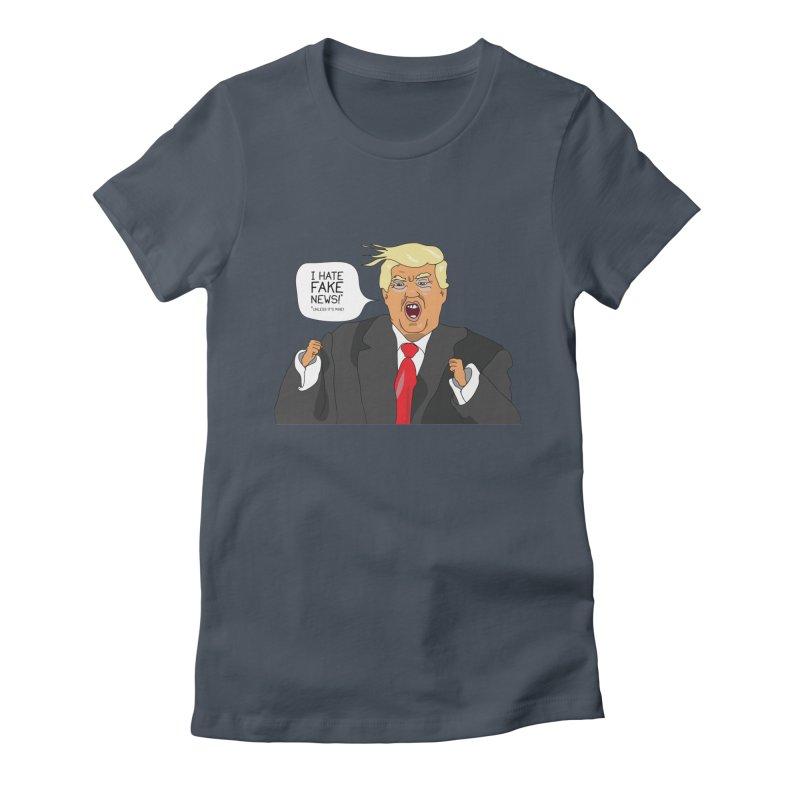 Fake News Tantrum Women's Fitted T-Shirt by Chris Talbot-Heindls' Artist Shop