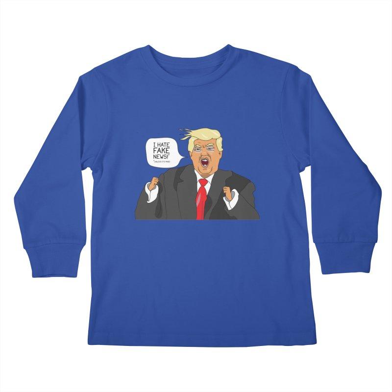 Fake News Tantrum Kids Longsleeve T-Shirt by Chris Talbot-Heindls' Artist Shop