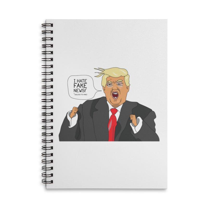 Fake News Tantrum Accessories Lined Spiral Notebook by Chris Talbot-Heindls' Artist Shop