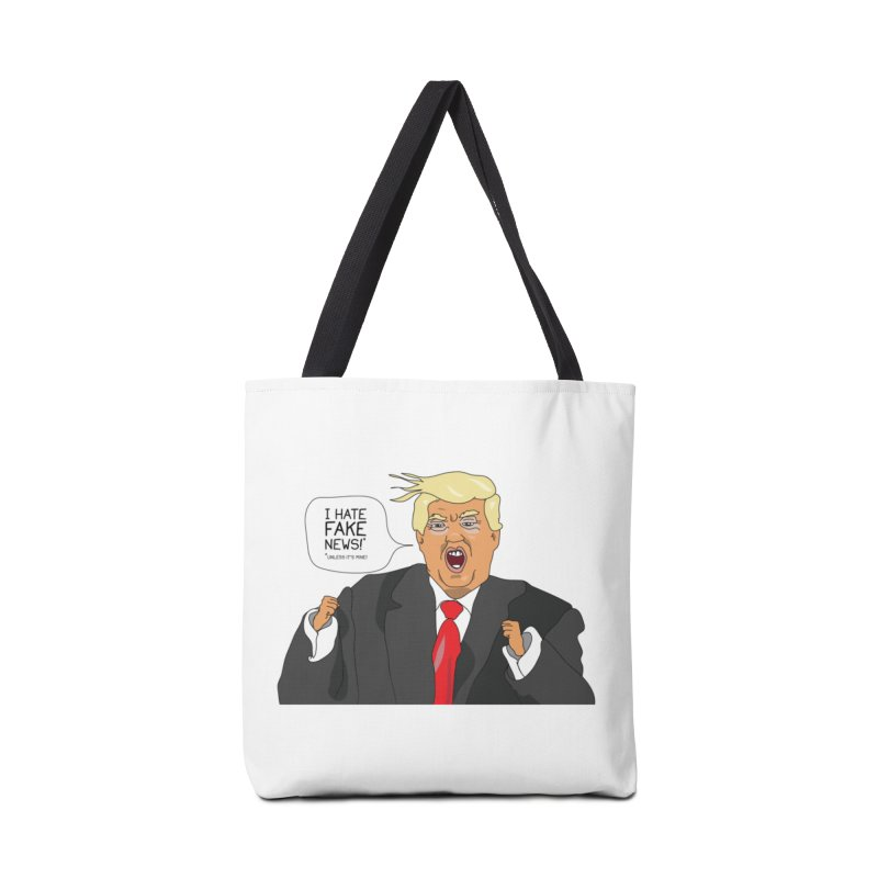 Fake News Tantrum Accessories Tote Bag Bag by Chris Talbot-Heindls' Artist Shop