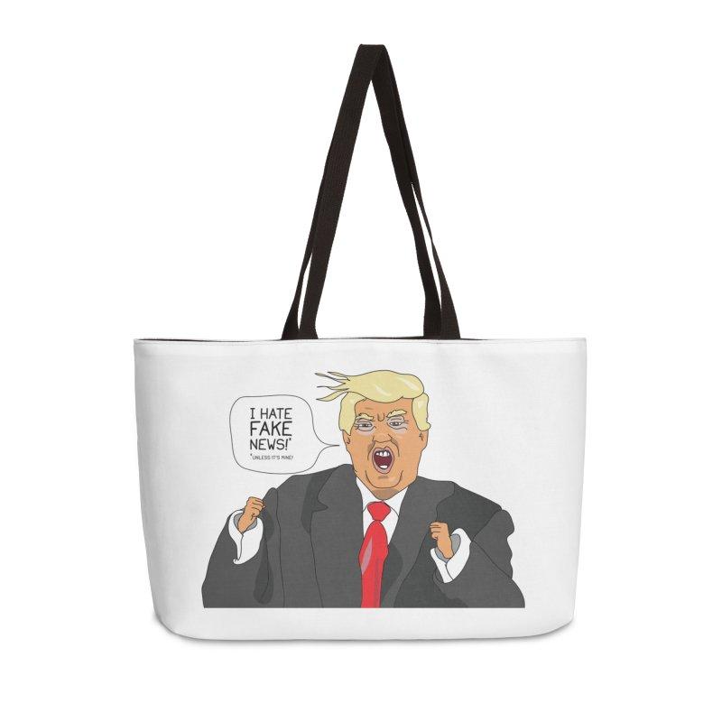 Fake News Tantrum Accessories Weekender Bag Bag by Chris Talbot-Heindls' Artist Shop