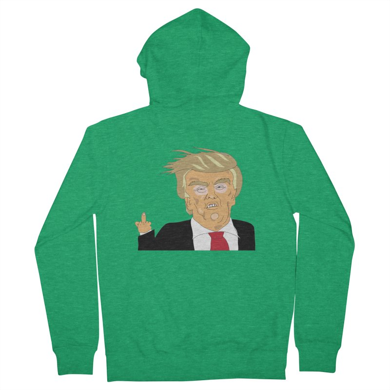 The Trump Policy Men's French Terry Zip-Up Hoody by Chris Talbot-Heindls' Artist Shop