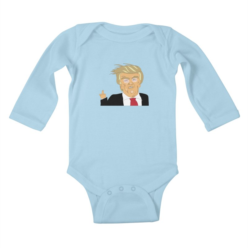 The Trump Policy Kids Baby Longsleeve Bodysuit by Chris Talbot-Heindls' Artist Shop