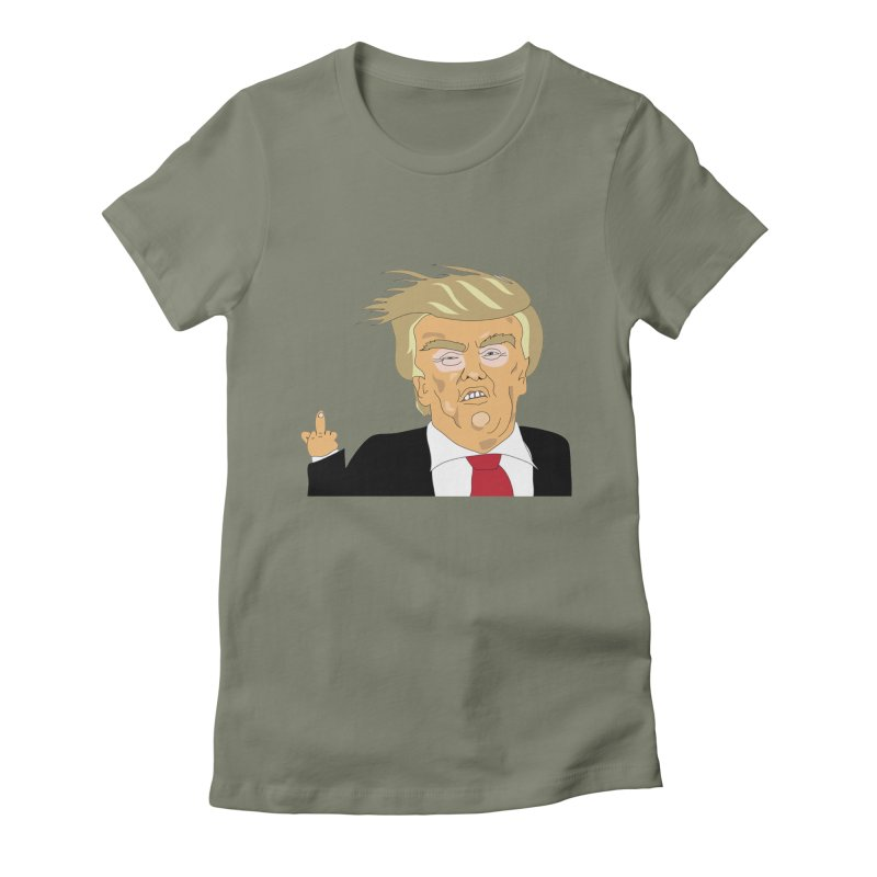 The Trump Policy Women's Fitted T-Shirt by Chris Talbot-Heindls' Artist Shop