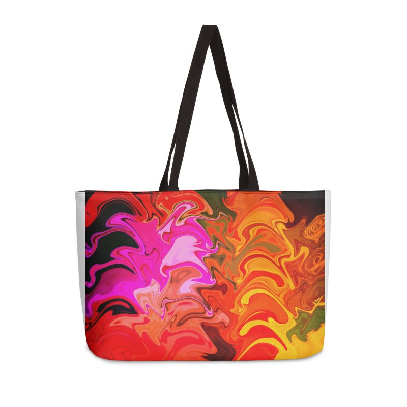 pink fire in Weekender Bag by Christian Rutz's Artist Shop