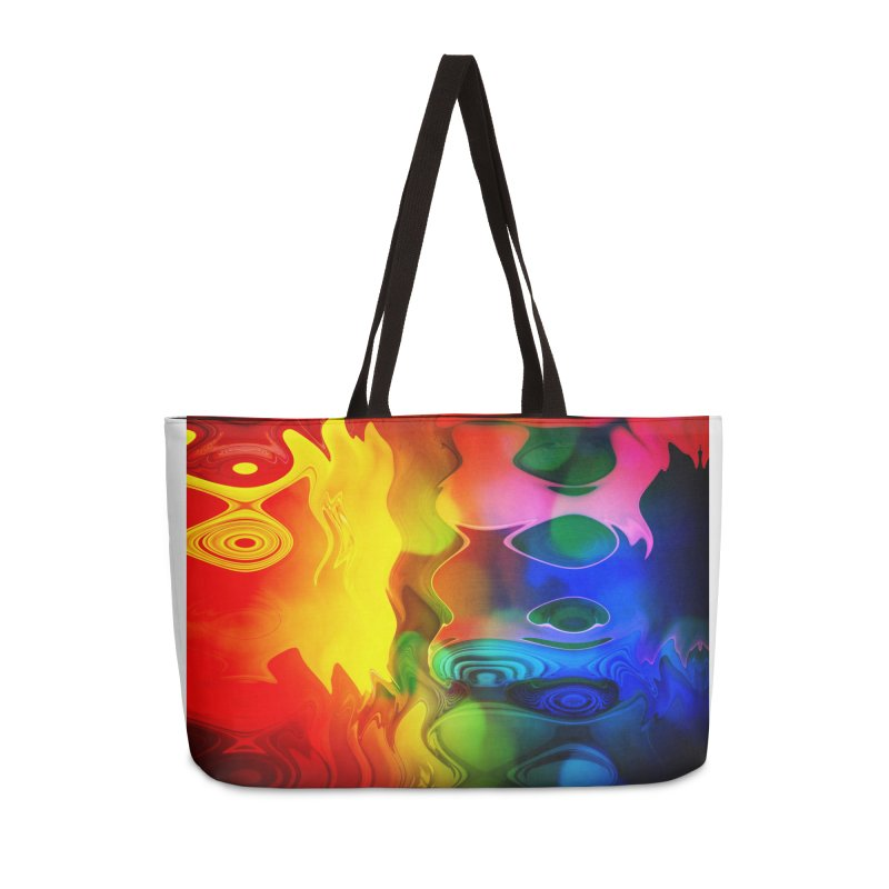 Color fire with yellow ghost in Weekender Bag by Christian Rutz's Artist Shop