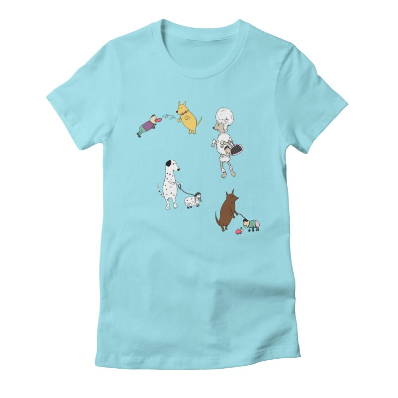 It's a Dog's World Women's Fitted T-Shirt by Christinah