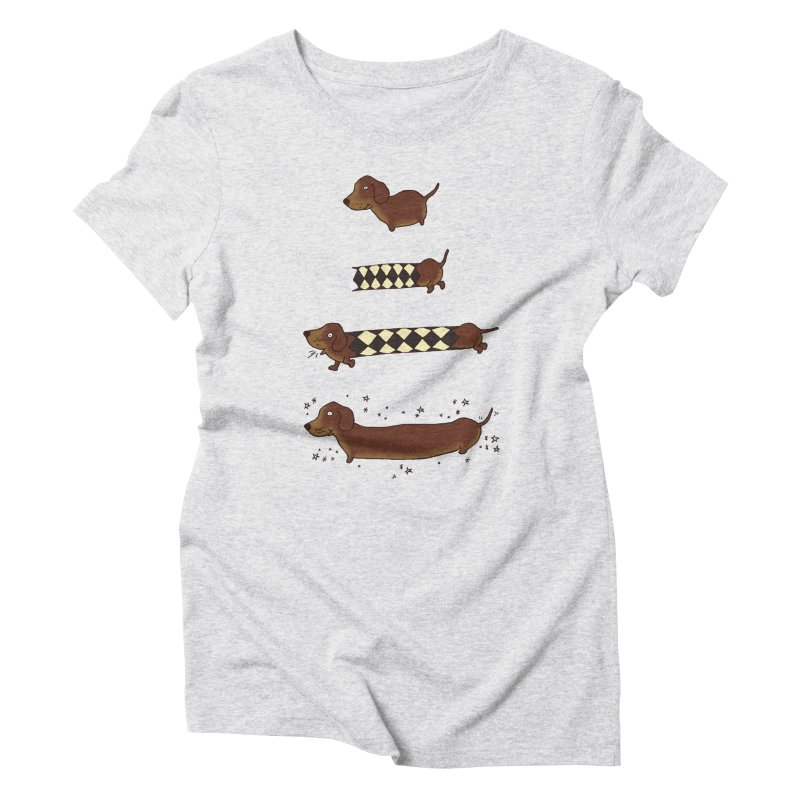 Perfect creation of a dachshund Women's Triblend T-Shirt by Christinah