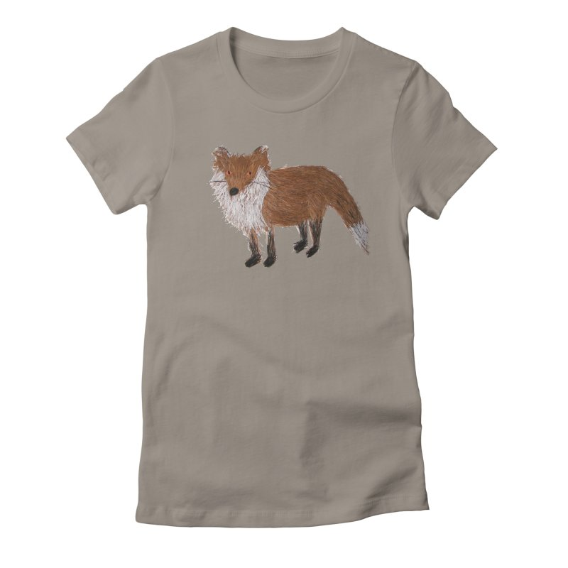 Mr. Pine Needle Fox Women's Fitted T-Shirt by Christinah
