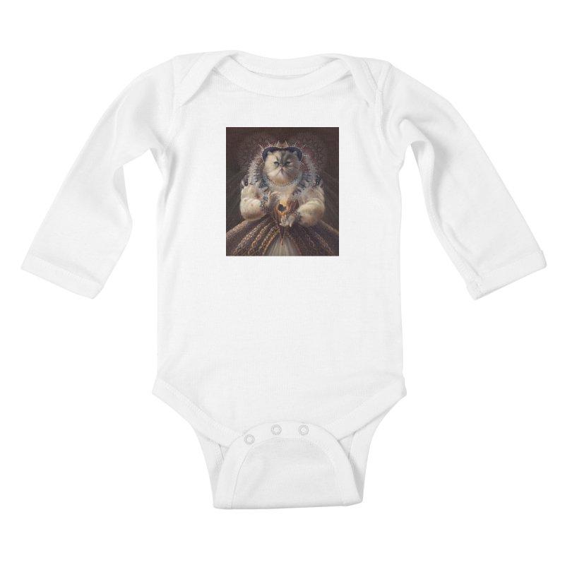 Queen Elhissabeth Kids Baby Longsleeve Bodysuit by christinahess's Artist Shop