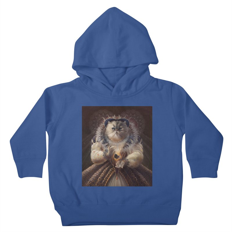 Queen Elhissabeth Kids Toddler Pullover Hoody by christinahess's Artist Shop