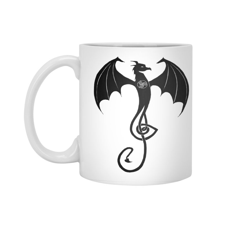 Celtic Dragon G-Clef Accessories Standard Mug by Christopher Caouette Official Merch