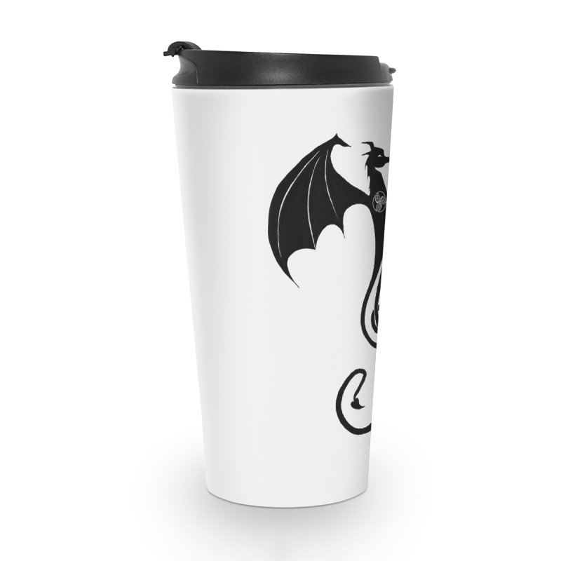 Celtic Dragon G-Clef Accessories Travel Mug by Christopher Caouette Official Merch