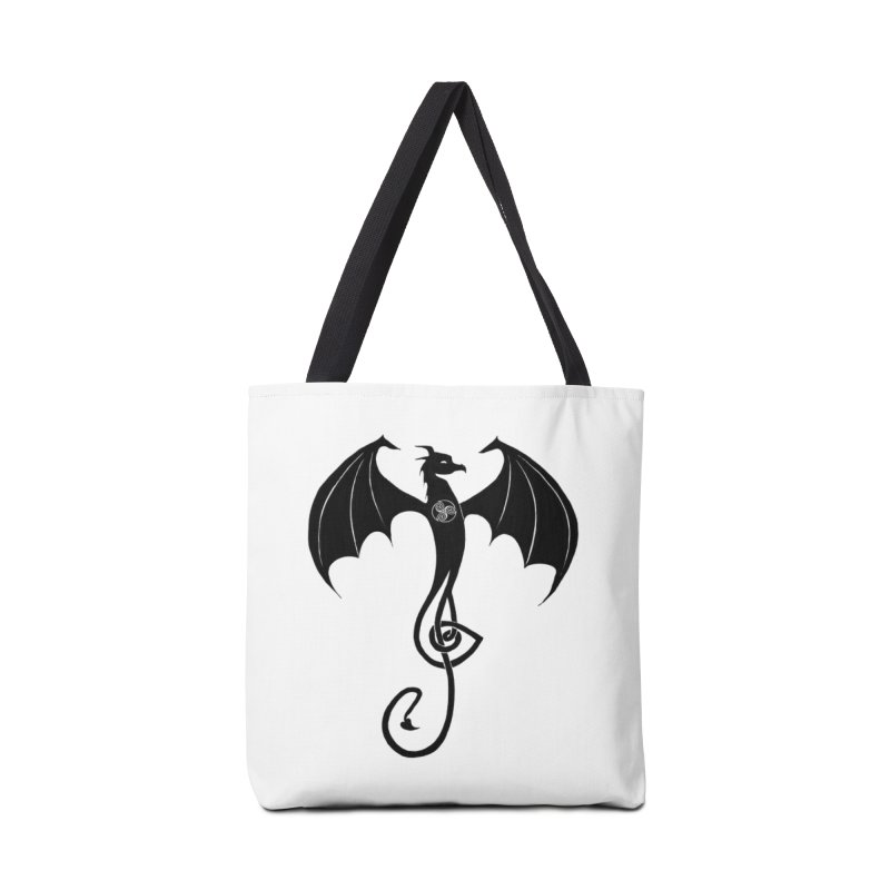 Celtic Dragon G-Clef Accessories Bag by Christopher Caouette Official Merch