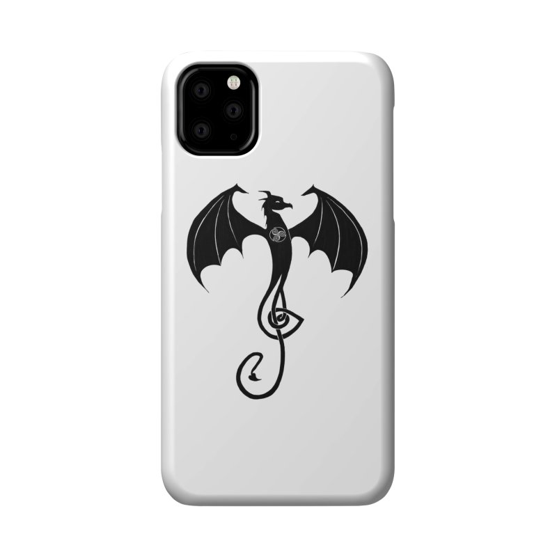 Celtic Dragon G-Clef Accessories Phone Case by Christopher Caouette Official Merch