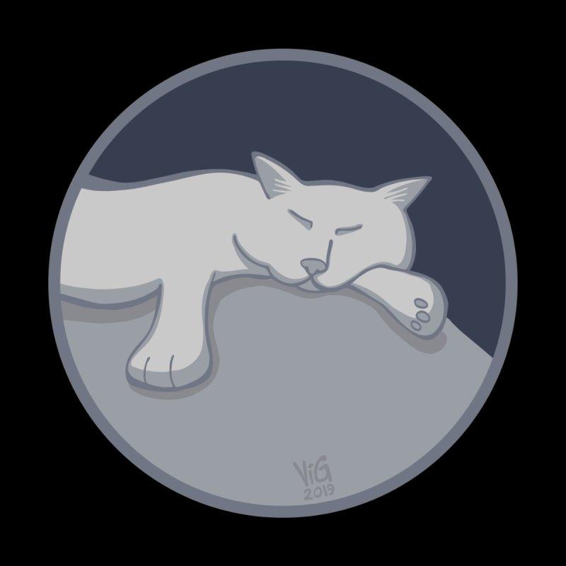 Sleeping Cat (Moonlight) Kids T-Shirt by CHRIS VIG'S SHIRTSTUFFS