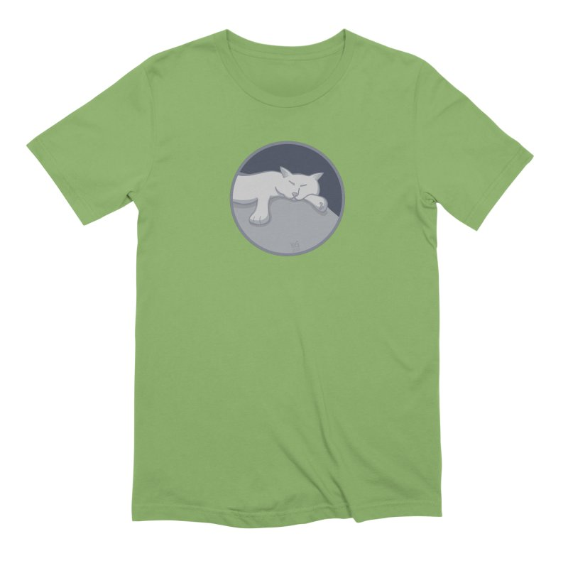 Sleeping Cat (Moonlight) Men's T-Shirt by CHRIS VIG'S SHIRTSTUFFS