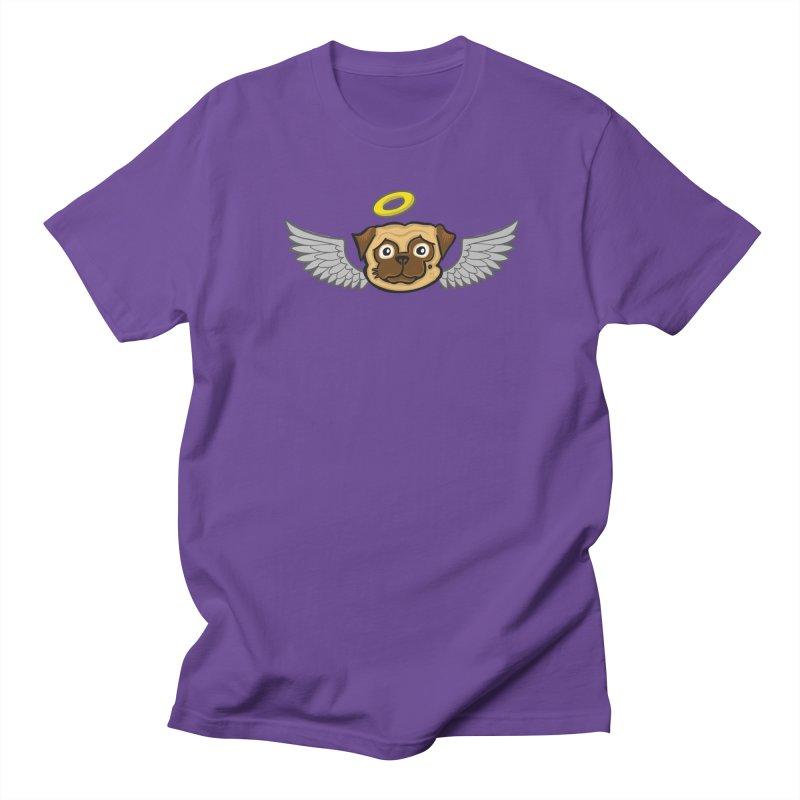 Angel Pug Men's T-Shirt by CHRIS VIG'S SHIRTSTUFFS