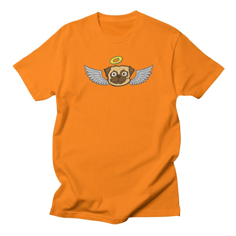 Angel Pug Men's T-Shirt by CHRIS VIG'S SHIRTSTUFFS