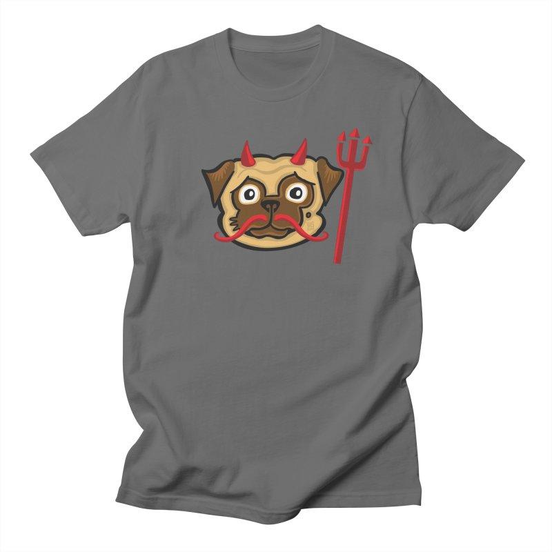 Devil Pug Men's T-Shirt by CHRIS VIG'S SHIRTSTUFFS