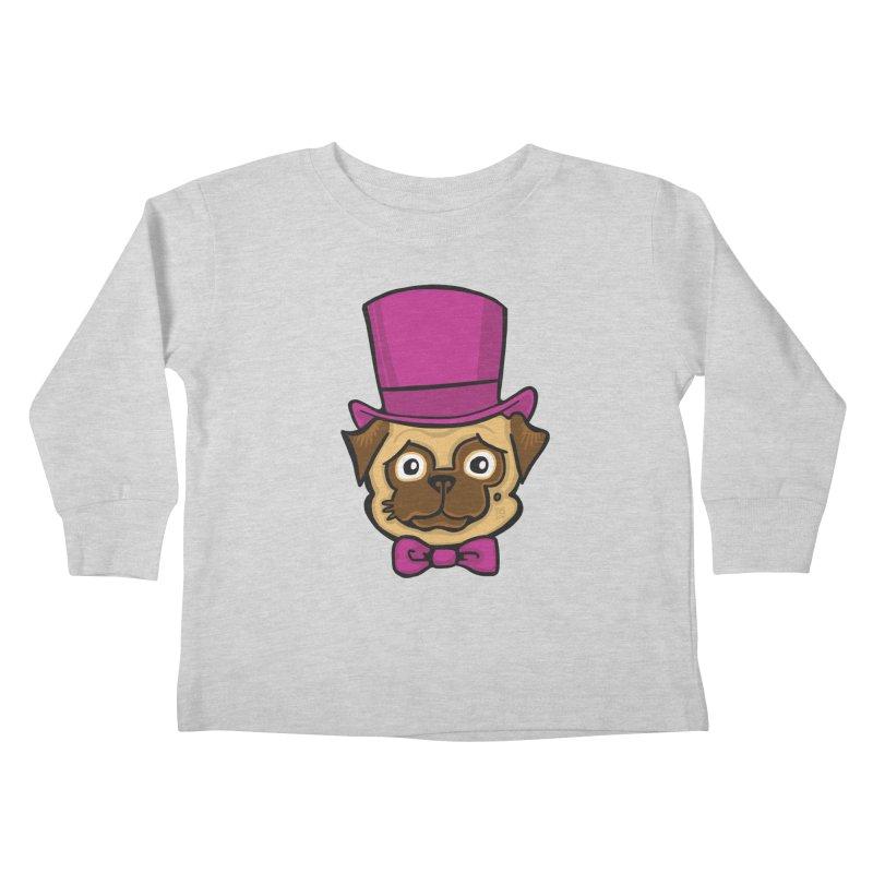 Fancy Pug Kids Toddler Longsleeve T-Shirt by CHRIS VIG'S SHIRTSTUFFS