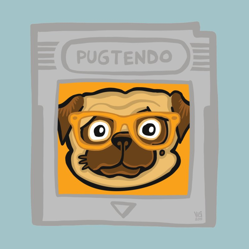 Pugtendo Gamepug Men's T-Shirt by CHRIS VIG'S SHIRTSTUFFS