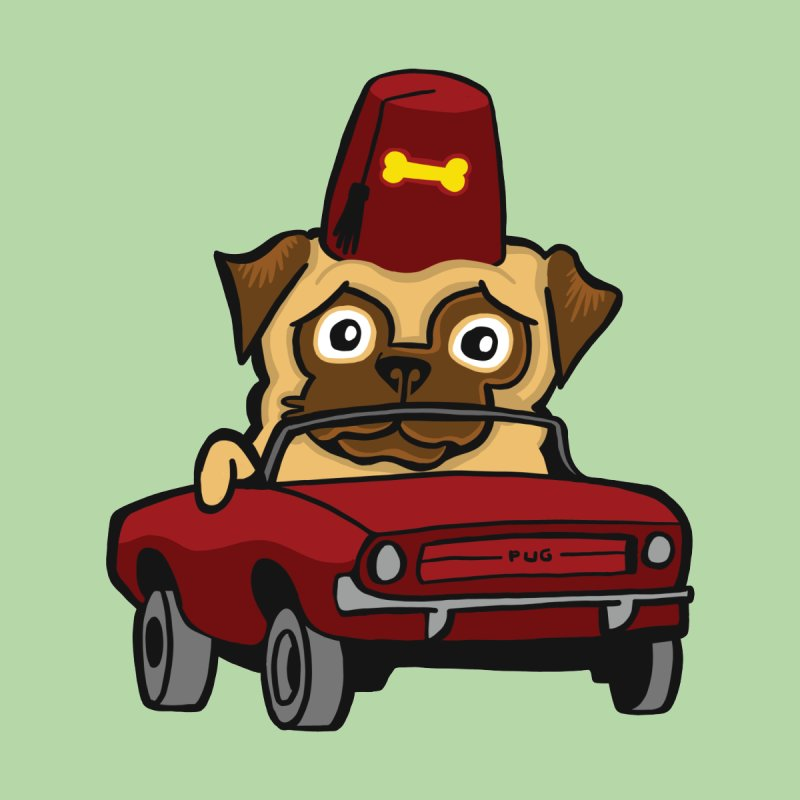 Benevolent Secret Society Pug In A Tiny Car by CHRIS VIG'S SHIRTSTUFFS
