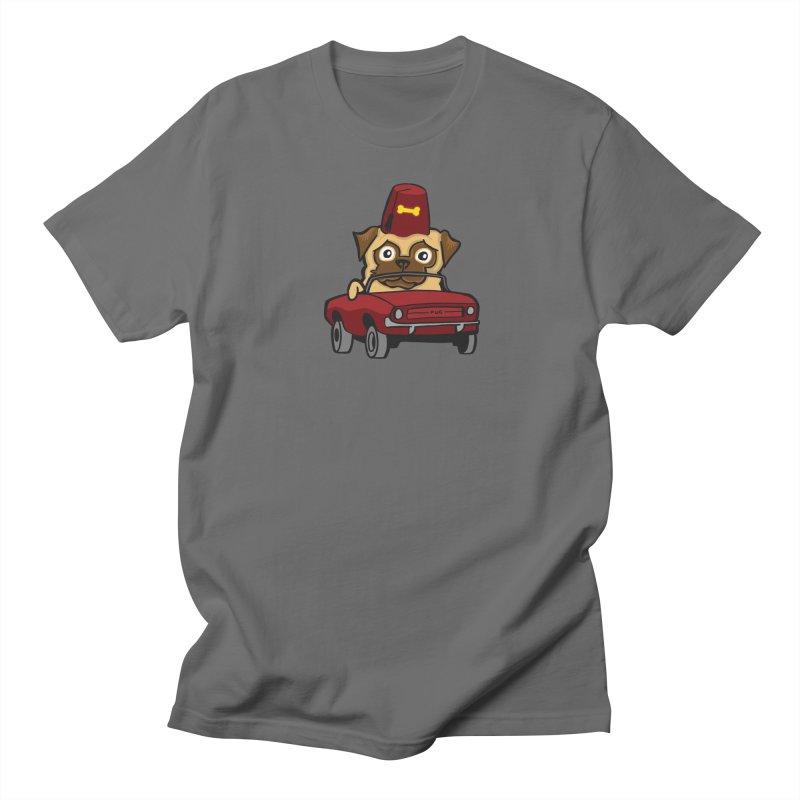 Benevolent Secret Society Pug In A Tiny Car Men's T-Shirt by CHRIS VIG'S SHIRTSTUFFS