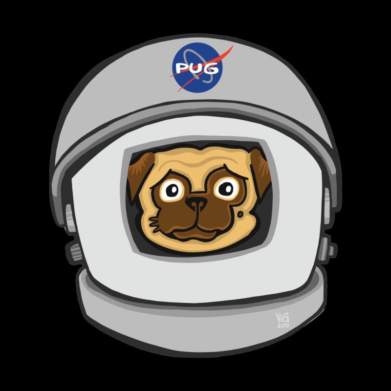 Space Pug Men's T-Shirt by CHRIS VIG'S SHIRTSTUFFS