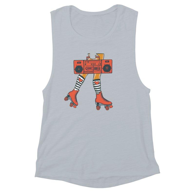 Boom Box Women's Muscle Tank by CHRIS VIG'S SHIRTSTUFFS