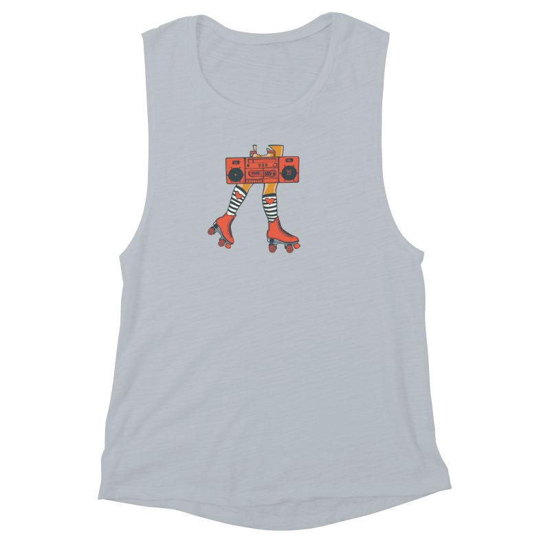 Boom Box Women's Muscle Tank by CHRIS VIG'S SHIRTSTUFFS