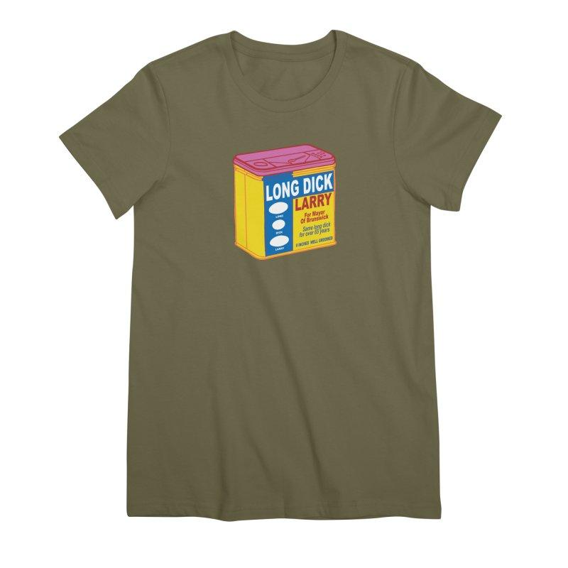 Long Dick Larry Women's Premium T-Shirt by CHRIS VIG'S SHIRTSTUFFS