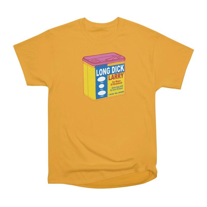 Long Dick Larry Men's Heavyweight T-Shirt by CHRIS VIG'S SHIRTSTUFFS
