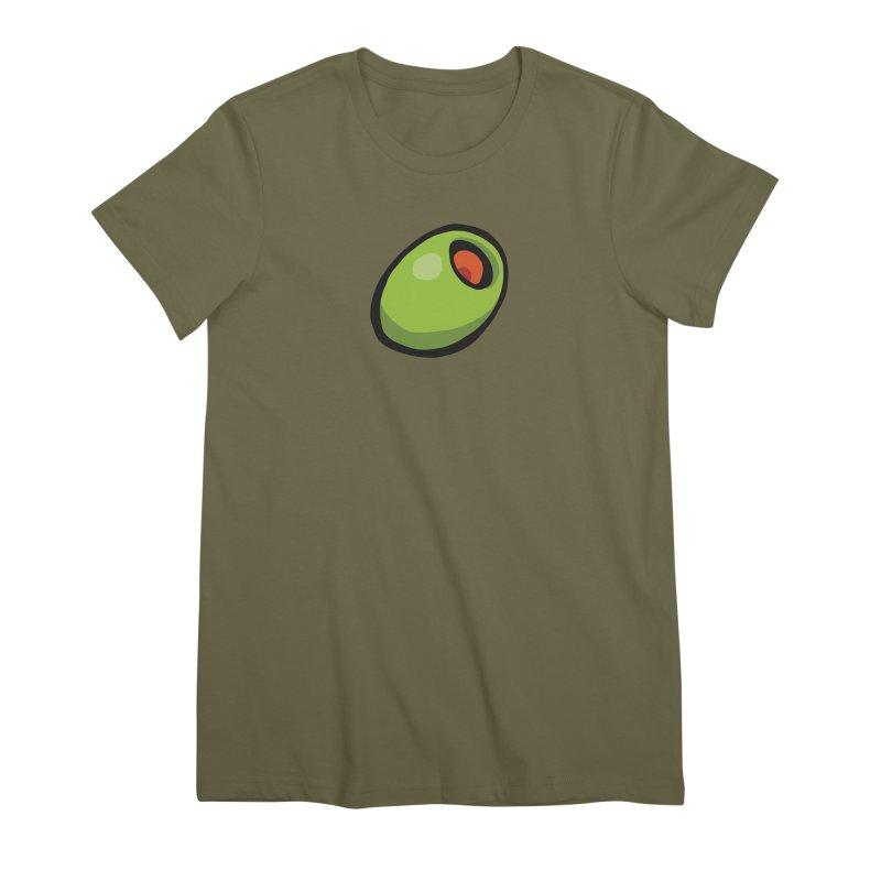 Olive Women's Premium T-Shirt by CHRIS VIG'S SHIRTSTUFFS