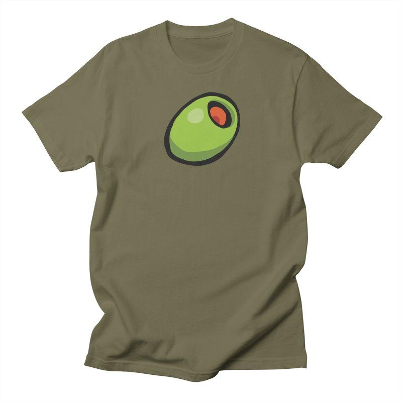 Olive Women's Regular Unisex T-Shirt by CHRIS VIG'S SHIRTSTUFFS