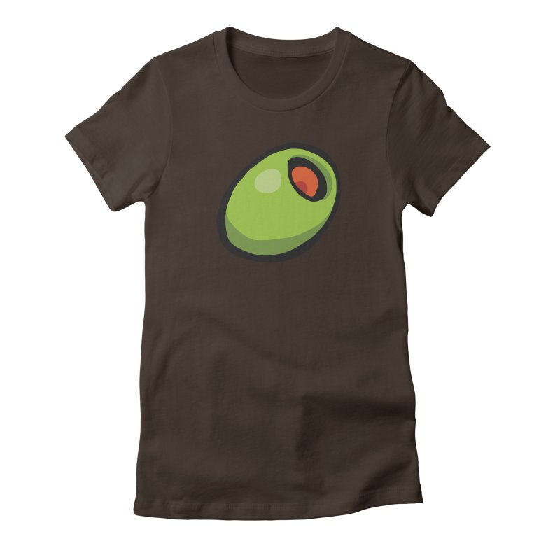 Olive Women's Fitted T-Shirt by CHRIS VIG'S SHIRTSTUFFS