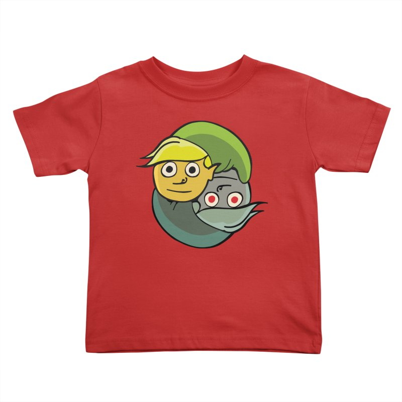 The Light And Darkness Of Link Kids Toddler T-Shirt by CHRIS VIG'S SHIRTSTUFFS