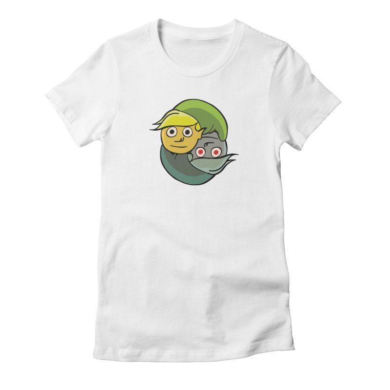 The Light And Darkness Of Link Women's Fitted T-Shirt by CHRIS VIG'S SHIRTSTUFFS