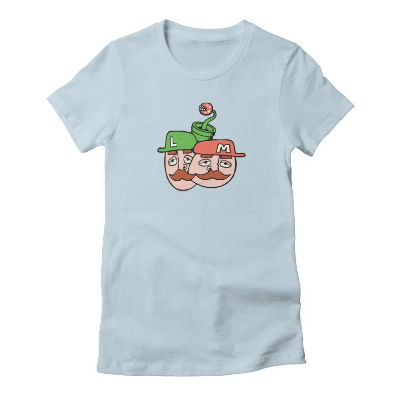 Bros Women's Fitted T-Shirt by CHRIS VIG'S SHIRTSTUFFS
