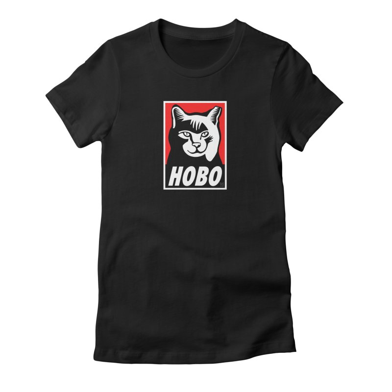 Hobo Harry Women's Fitted T-Shirt by CHRIS VIG'S SHIRTSTUFFS