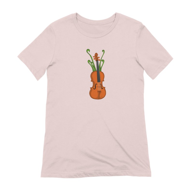 Fiddleheads Women's Extra Soft T-Shirt by CHRIS VIG'S SHIRTSTUFFS